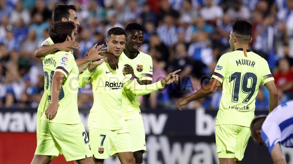 صور مباراة : ليغانيس - برشلونة 2-1 ( 26-09-2018 ) 99772821