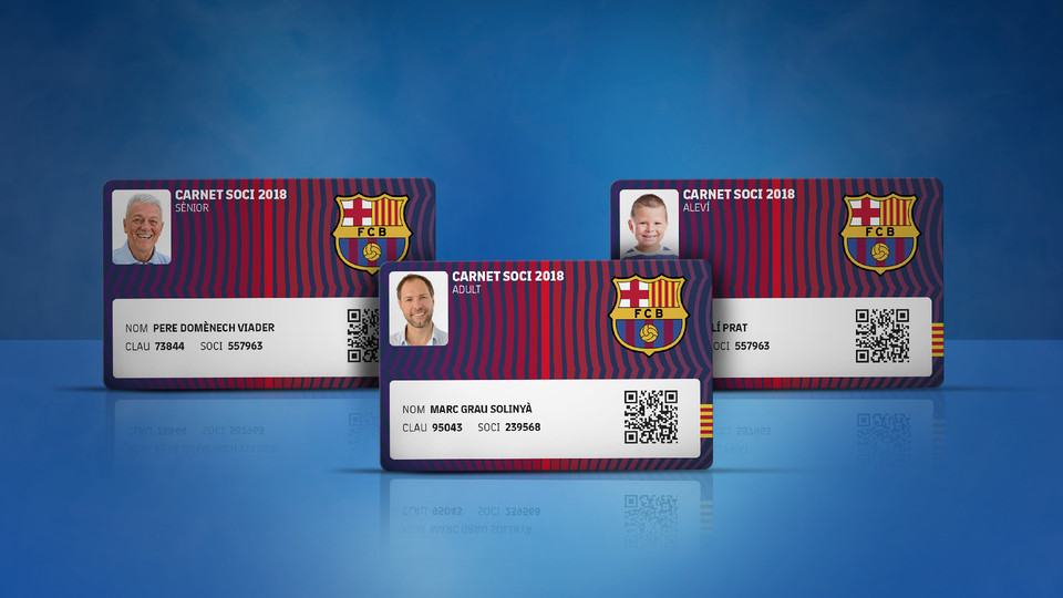 Renewal Of Membership And Commitment Cards For FC Barcelona - Barcelona colors