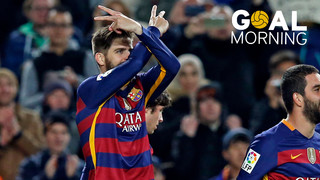 Goal Morning! We start the day with Gerard Piqué...