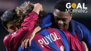 Goal Morning! Puyol's great goal playing right-back!