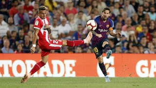 Messi and Piqué scored for Barça, whilst Stuani got a brace for the visitors at the Camp Nou
