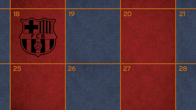Club Match Schedule FC Barcelona - Barcelona colors