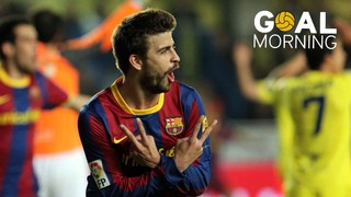 Goal Morning! Gerard Piqué disguises himself as forward