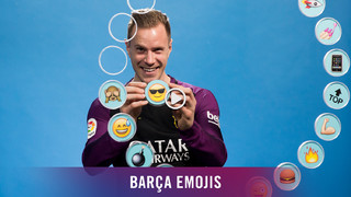 Barça's goalkeeper assigns a different emoji to each of his cohorts