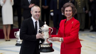 Andrés Iniesta is recognised with the National Sports Awars