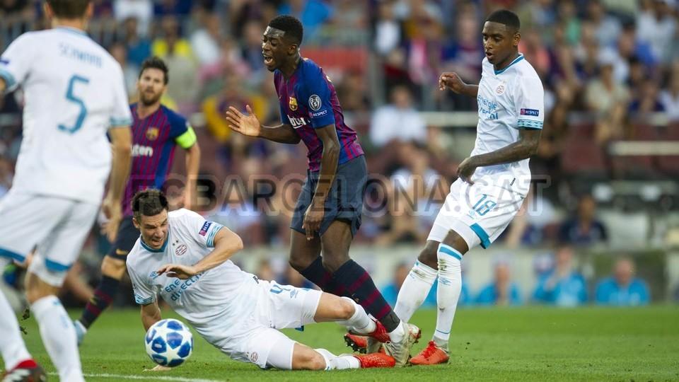 صور مباراة : برشلونة - PSV إندهوفن 4-0 ( 18-09-2018 )  98884248