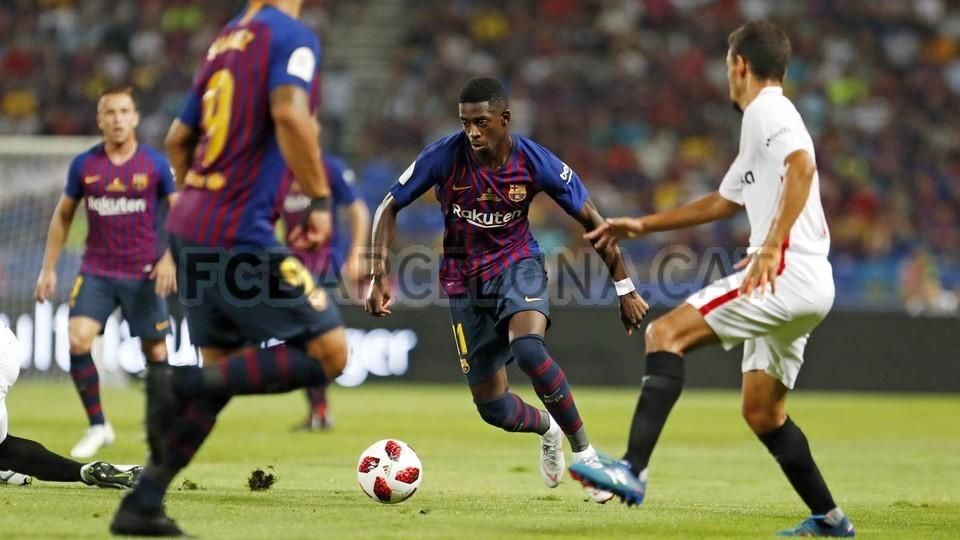 صور مباراة : برشلونة - إشبيلية 2-1 ( 13-08-2018 )  95761816