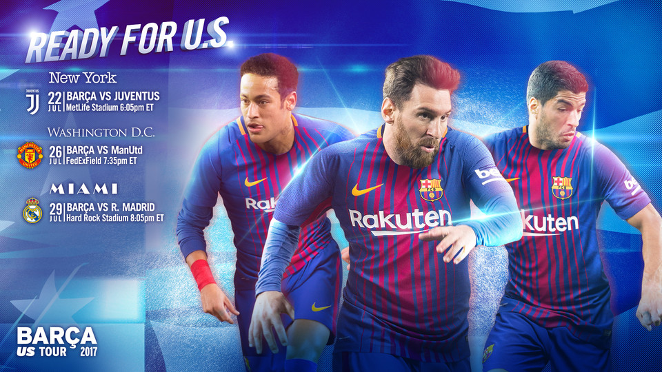 Fc barcelona to make 2017 preseason tour to the usa fc barcelona bara will play juventus manchester united and real madrid in the international champions cup in new york 22 july washington dc 26 july and miami fandeluxe Images