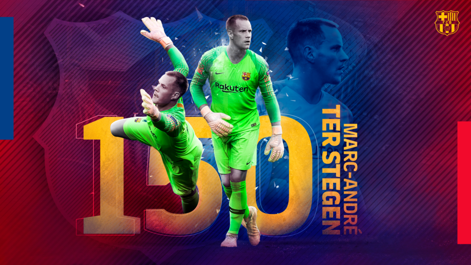Ter Stegen reaches 150 official games for the blaugranes