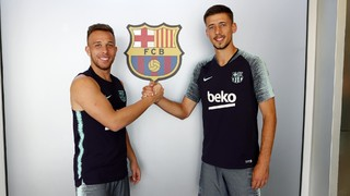 FC Barcelona's latest signings have had their first experiences of training at the Ciutat Esportiva, and are adapting rapidly to their new club