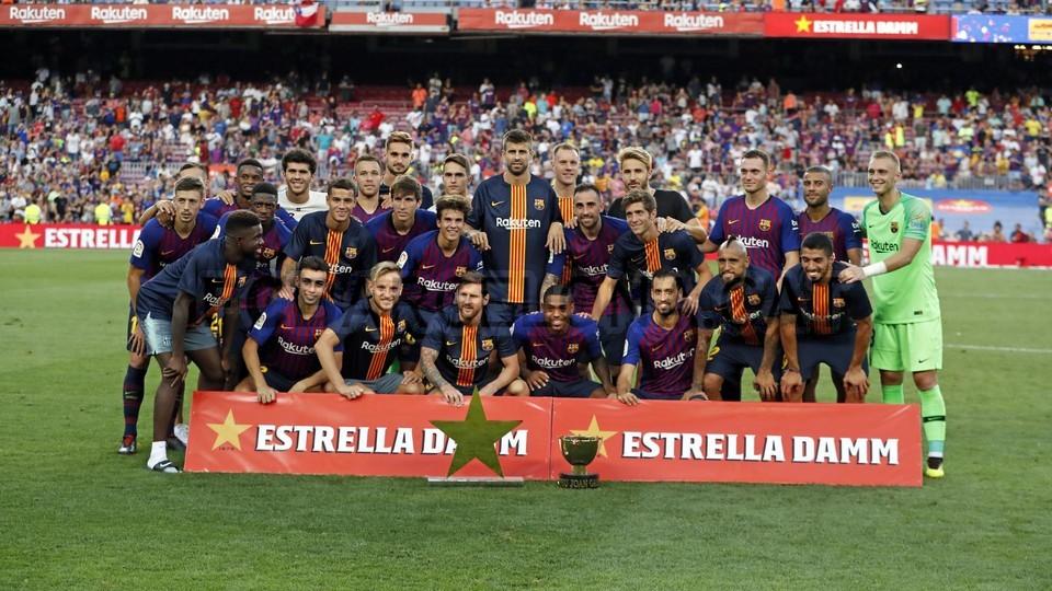 صور مباراة : برشلونة - بوكا جونيورز ( 16-08-2018 )  95975067