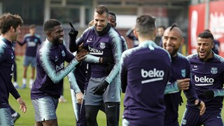 Last training session before the match against Rayo