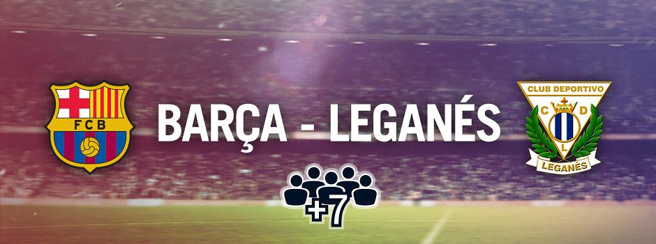Entradas oficiales para grupos Barça VS Leganés