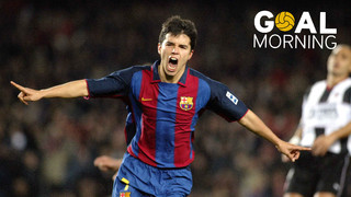 Goal Morning! Today we start the day with Javier Saviola...