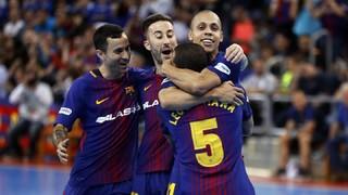 Barça Lassa - ElPozo Murcia: Catarsis culé y primer triunfo de la eliminatoria (3-2)