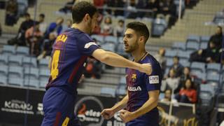 Santiago Futsal - FC Barcelona Lassa: Exhibición ofensiva en un duelo vibrante (3-8)