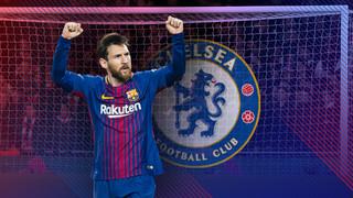 Lionel Messi es treu l'espineta del Chelsea
