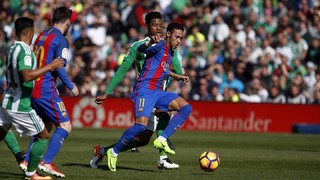 Betis 1 - FC Barcelona 1 (3 minutes)