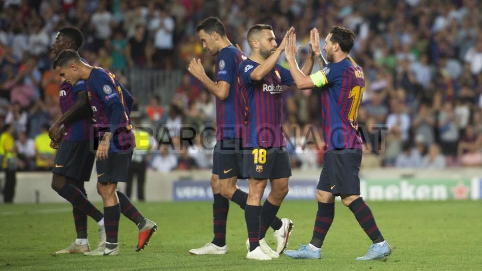 صور مباراة : برشلونة - PSV إندهوفن 4-0 ( 18-09-2018 )  98901670