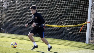 The Brazilian kept on working on his recovery from a thigh injury at the Ciutat Esportiva