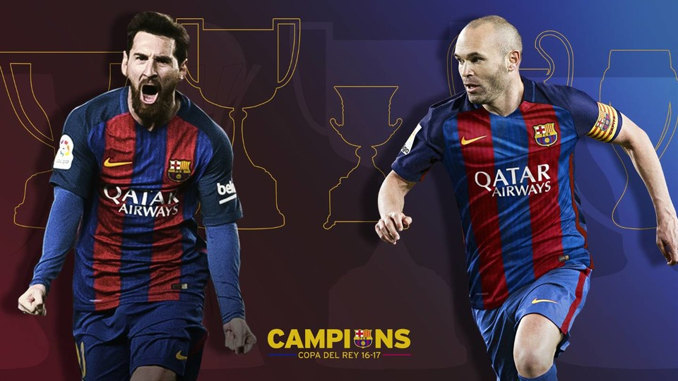 Andres Iniesta And Leo Messi Continuing Setting New Records The Copa Del Rey 2017 Trophy Being Their 30th As Barca Players Figure Is Without Doubt