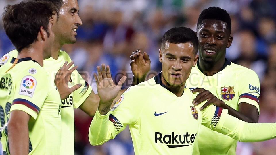 صور مباراة : ليغانيس - برشلونة 2-1 ( 26-09-2018 ) 99848465