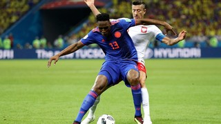Barça centre back scores first of three goals as the South Americans defeat Poland 3-0 to keep their World Cup dreams intact