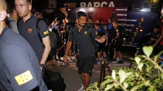 The blaugrana expedition left Barcelona on Wednesday evening for the New York metropolitan area to start their preseason tour; the team landed at Newark Liberty International Airport in New Jersey at 7.37pm EST