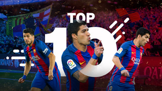 Suárez's best 10 goals in the 2016/17 season