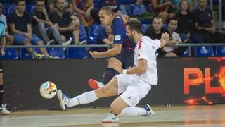 Barça Lassa - Naturpellet Segovia: Goleada a golpe de pizarra (7-1)