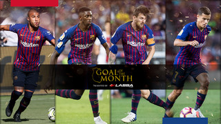 We've selected the five best goals of the month for you to vote and decide which one is the best