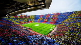 The spectacular mosaic before El Clásico