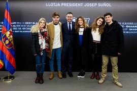 La visita al Camp Nou de los concursantes de Operación Triunfo