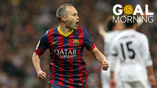 Goal Morning! What a goal from Andrés Iniesta against Real Madrid!
