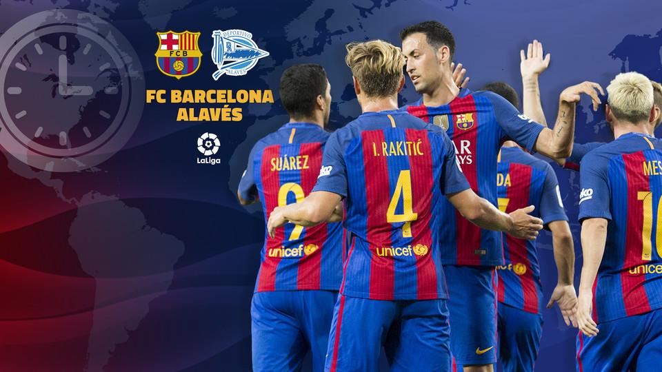 Disfruta de la crónica y de los mejores vídeos e imágenes del partido Barcelona vs Alavés de LaLiga Santander en MARCAcom