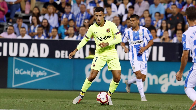 صور مباراة : ليغانيس - برشلونة 2-1 ( 26-09-2018 ) 99772845