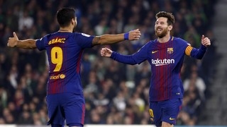 Valverde's men win in style with five unanswered goals within 30 minutes as Rakitic, Messi (2), and Suárez (2) find the net