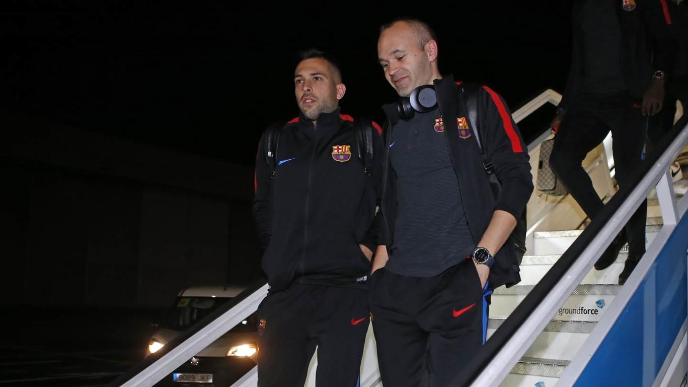 El primer equipo ha viajado este viernes por la noche en Madrid para disputar el partido de este sábado contra el Leganés