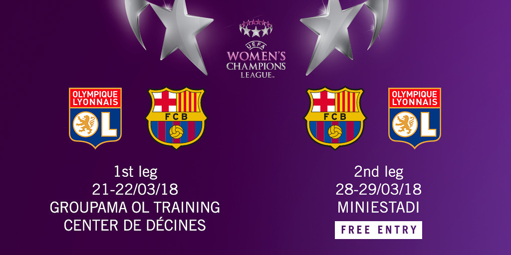 FC Barcelona To Face Olympique Lyon In Womens Champions