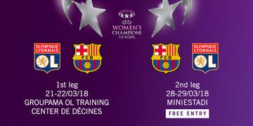 El Femení s'enfrontarà a l'Olympique de Lió als quarts de final de la Women's Champions League