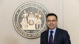 Josep Maria Bartomeu ha aprofitat la seva visita a Boston per conèixer de primera mà el Massachusetts Institute of Technology (MIT)