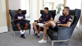 Arthur, Lenglet i Malcom elogien el mètode Valverde