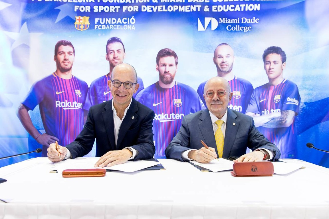 The FCB Foundation will apply to their methodology to promote values through sport in the different campuses at one of the United States' leading academic institutions