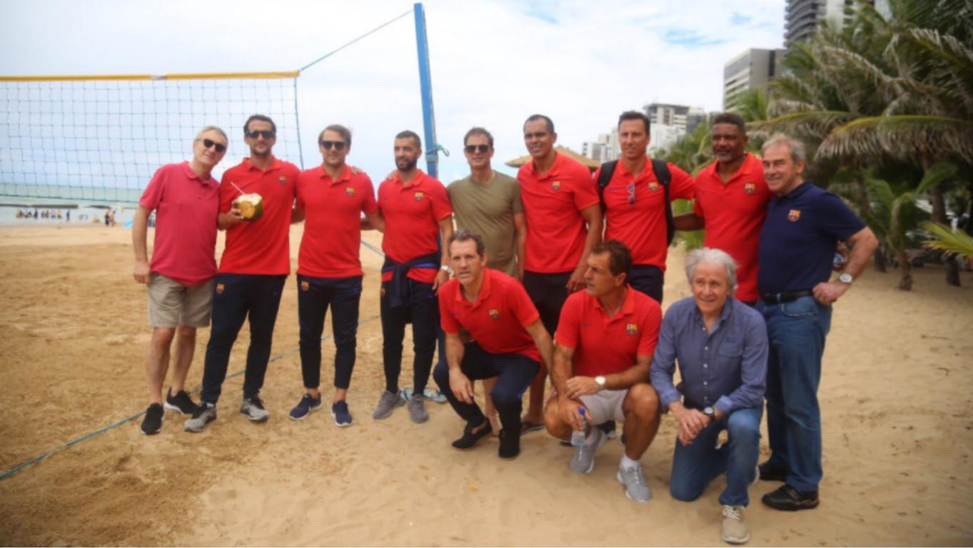 En Ramon Alfonseda ha viatjat amb l'equip d'exjugadors del Club a Recife, on els blaugranes han guanyat 0 a 1 a la Seleção Pernambucana en la tornada de Rivaldo al seu estat d'origen