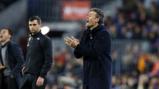 Luis Enrique: 'Post game reaction to win over Leganés'