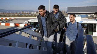 FC Barcelona arrive in Villarreal