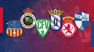 Coneixes els sis possibles rivals del FC Barcelona als setzens de final de la Copa del Rei? Te'ls presentem!