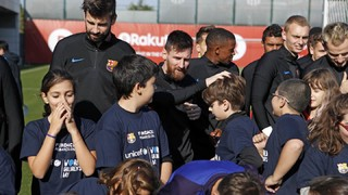 Children 'take control' of the FC Barcelona board and first team