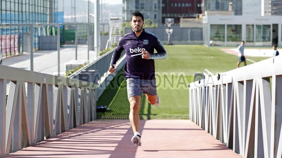 التدريبات متواصلة في برشلونة بانتظار التحاق آخر اللاعبين العائدين من المشاركة في المباريات الدولية مع منتخباتهم الوطنية 101157045