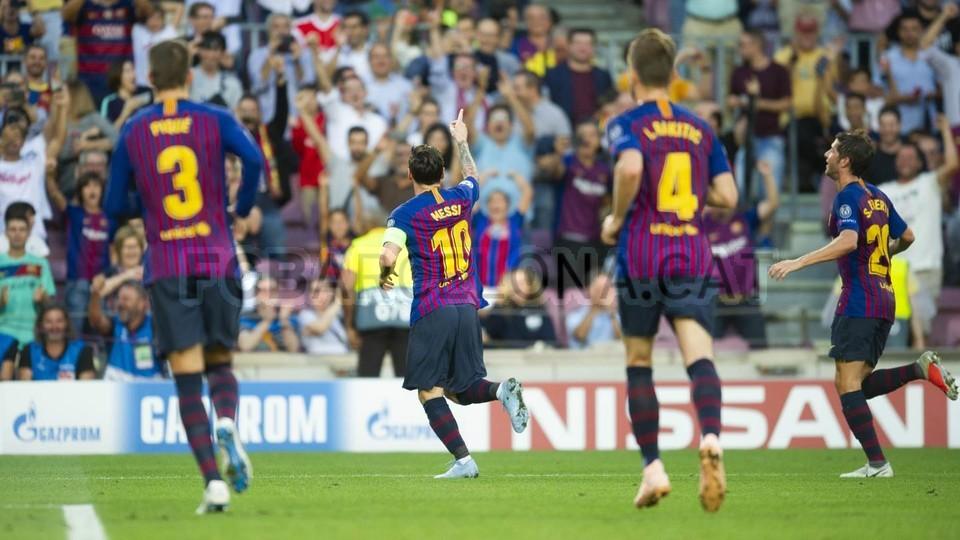 صور مباراة : برشلونة - PSV إندهوفن 4-0 ( 18-09-2018 )  98884278